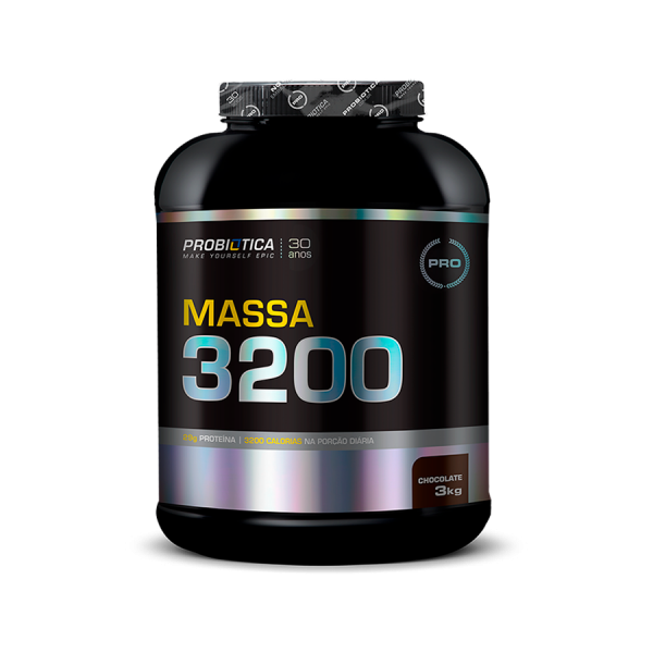 Massa 3200 3kg chocolate Probiotica